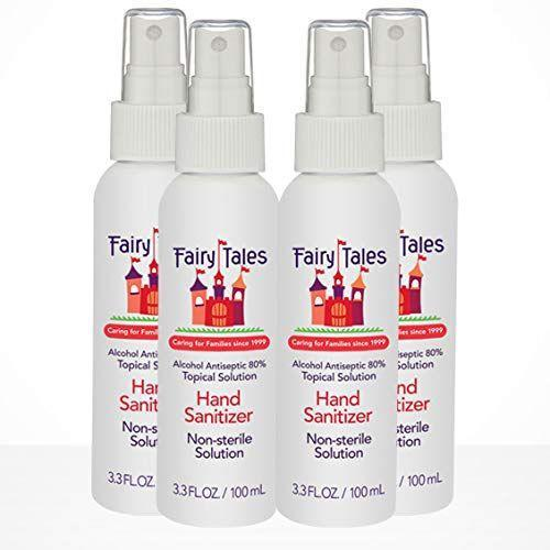 """<p><strong>Fairy Tales</strong></p><p>amazon.com</p><p><strong>$19.95</strong></p><p><a href=""""https://www.amazon.com/dp/B08BG9QV9C?tag=syn-yahoo-20&ascsubtag=%5Bartid%7C2139.g.33415441%5Bsrc%7Cyahoo-us"""" rel=""""nofollow noopener"""" target=""""_blank"""" data-ylk=""""slk:BUY IT HERE"""" class=""""link rapid-noclick-resp"""">BUY IT HERE</a></p><p>Fight germs with this mist containing 80 percent alcohol. This four-pack is also fragrance-free so it's good for all skin types. </p>"""