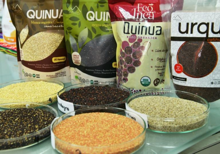 An array of Andean ingredients considered superfoods are shown at the food lab of La Molina agrarian university in Lima