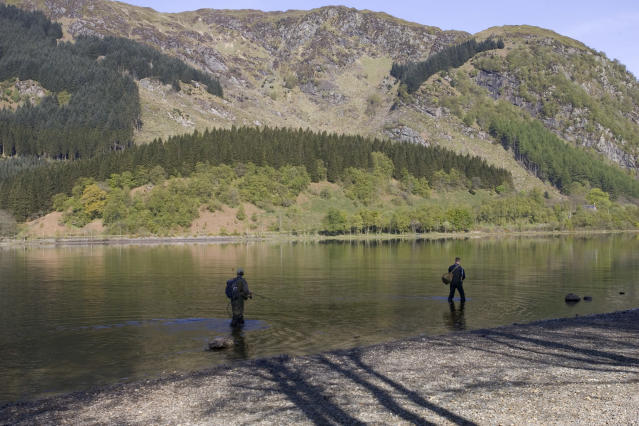 Loch Lubnaig is in the Loch Lomond and the Trossachs National Park (MyLoupe/Universal Images Group via Getty Images)