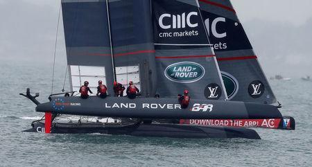 FILE PHOTO: Sailing - The America's Cup - Portsmouth - 24/7/15 Land Rover BAR skippered by Sir Ben Ainslie during practice in Portsmouth Reuters / Andrew Yates/File Photo