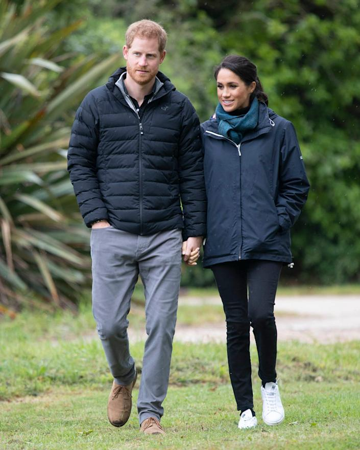 Prince Harry and Meghan Markle in New Zealand in 2018.