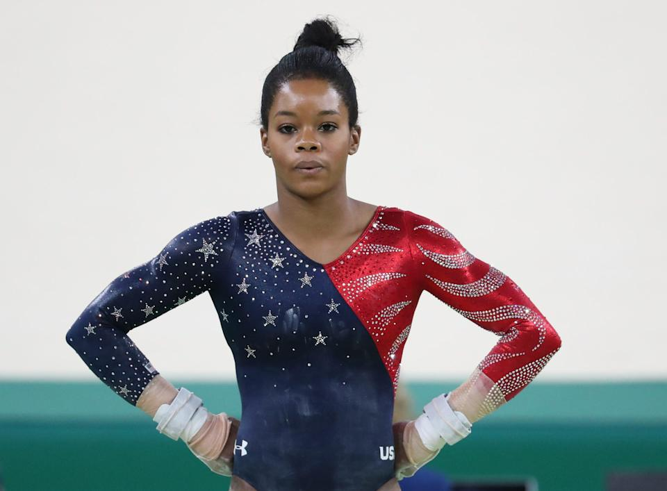 Gabby Douglas was part of the U.S. team that won Olympic gold in Rio. She also won Olympic all-around gold and team gold in 2012.