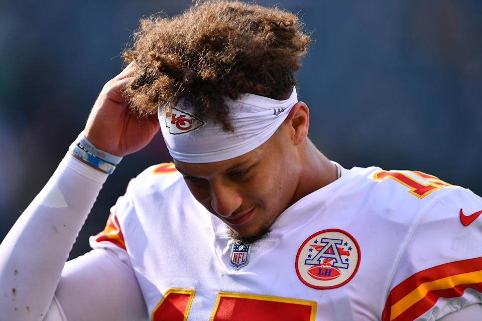 Kansas City Chiefs quarterback Patrick Mahomes has a big test this week against Buffalo. (Photo by Kyle Ross/Icon Sportswire via Getty Images)
