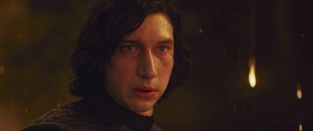 Kylo Ren's scar appears to heal over the course of the trailer. (Photo: Lucasfilm)