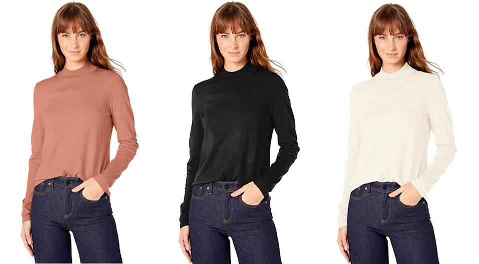 Lark & Ro Women's Warm Handed Synthetic Mock Neck Sweater: 54 percent off. (Photo: Amazon)