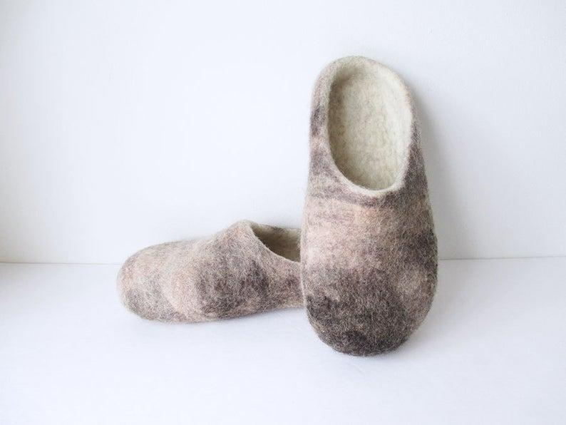 Felted Wool Slippers. Image via Etsy.