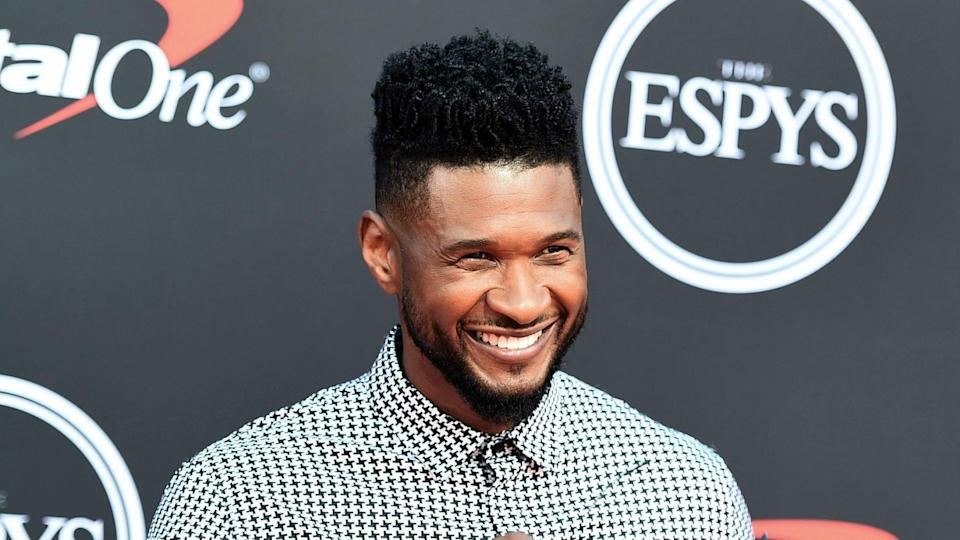 Mandatory Credit: Photo by Jordan Strauss/Invision/AP/Shutterstock (10331976ga)Usher arrives at the ESPY Awards, at the Microsoft Theater in Los Angeles2019 ESPY Awards - Arrivals, Los Angeles, USA - 10 Jul 2019.