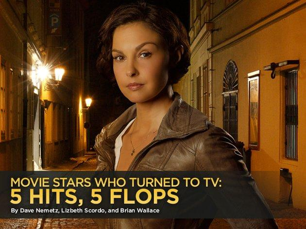 """We remember when TV was the last refuge of the fading movie star. But nowadays, starring in a TV series can be a pretty good career move for even a well-established film actor. Not all of them take the small screen by storm, though. With Ashley Judd set to debut this week as a former CIA agent tracking down her kidnapped son on ABC's """"Missing,"""" we're looking at five actors who successfully made the leap from movies to TV -- and five who should've stayed on the big screen."""