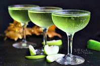 """<p>Vanilla vodka makes this cocktail extra luscious.</p><p>Get the recipe from <a href=""""http://www.willcookforsmiles.com/2013/12/sour-apple-champagne-cocktail.html"""" rel=""""nofollow noopener"""" target=""""_blank"""" data-ylk=""""slk:Will Cook for Smiles"""" class=""""link rapid-noclick-resp"""">Will Cook for Smiles</a>.</p>"""