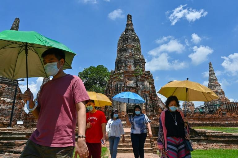 The kingdom is trying to salvage a tourism industry on its knees following a deadly third wave of coronavirus infections (AFP/Romeo GACAD)