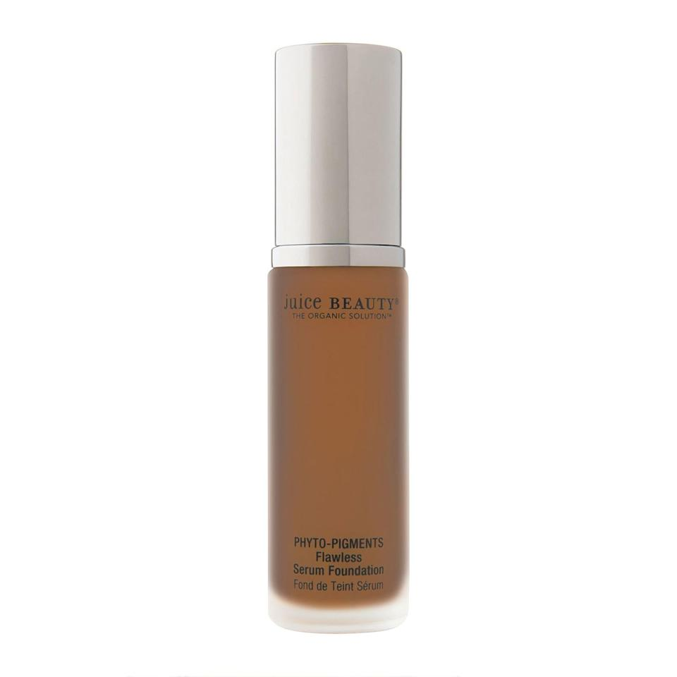 "<br><br><strong>Juice Beauty</strong> PHYTO-PIGMENTS Flawless Serum Foundation 30ml, $, available at <a href=""https://go.skimresources.com/?id=30283X879131&url=https%3A%2F%2Fus.feelunique.com%2Fp%2FJuice-Beauty-PHYTO-PIGMENTS-Flawless-Serum-Foundation-30ml%3Foption%3D53336"" rel=""nofollow noopener"" target=""_blank"" data-ylk=""slk:FeelUnique"" class=""link rapid-noclick-resp"">FeelUnique</a>"