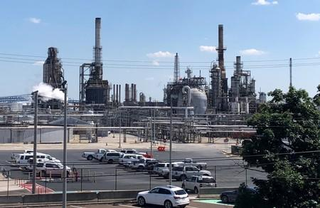 FILE PHOTO: The Philadelphia Energy Solutions oil refinery is shown following a recent fire that caused significant damage, in Philadelphia
