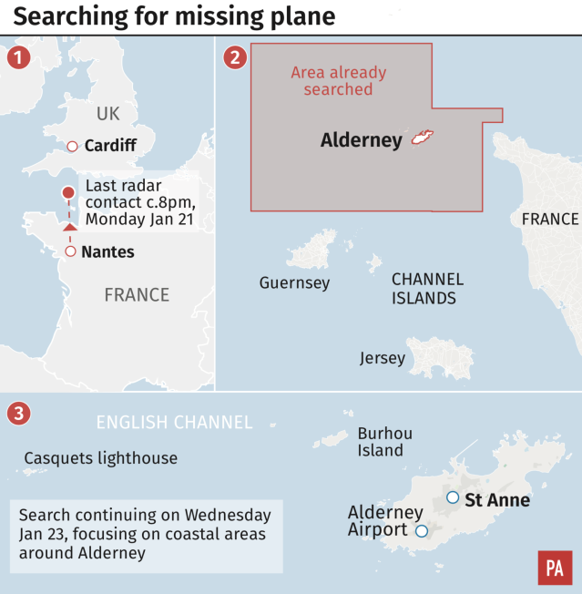 Details of the search efforts (Press Association)
