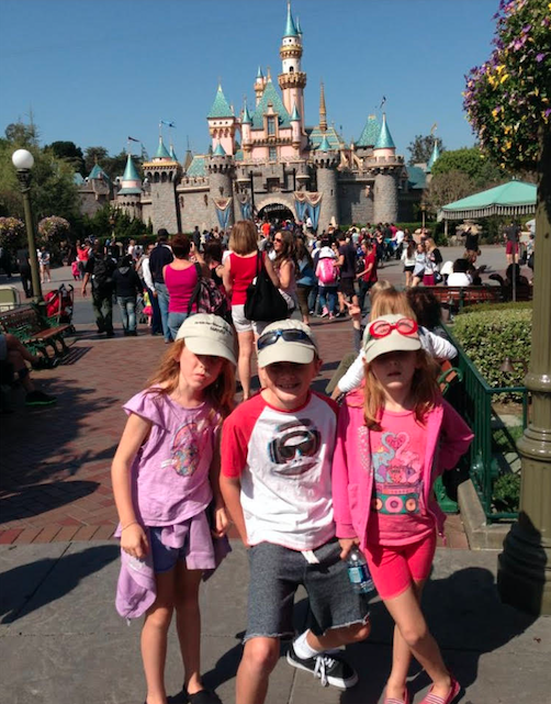 A trip to Disneyland in 2015 was wiped from the mum's memory. Photo: Supplied