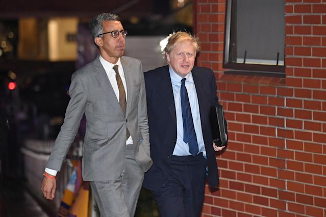 Boris Johnson arrives at the Question Time Leaders' Special event in Sheffield on Friday (PA)