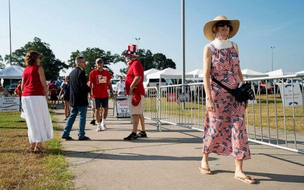 PHOTO: Delegates arrive to cast their votes at the 2020 7th District Republican Convention in Doswell, Va., July 18, 2020. (Bill Clark/AP, FILE)