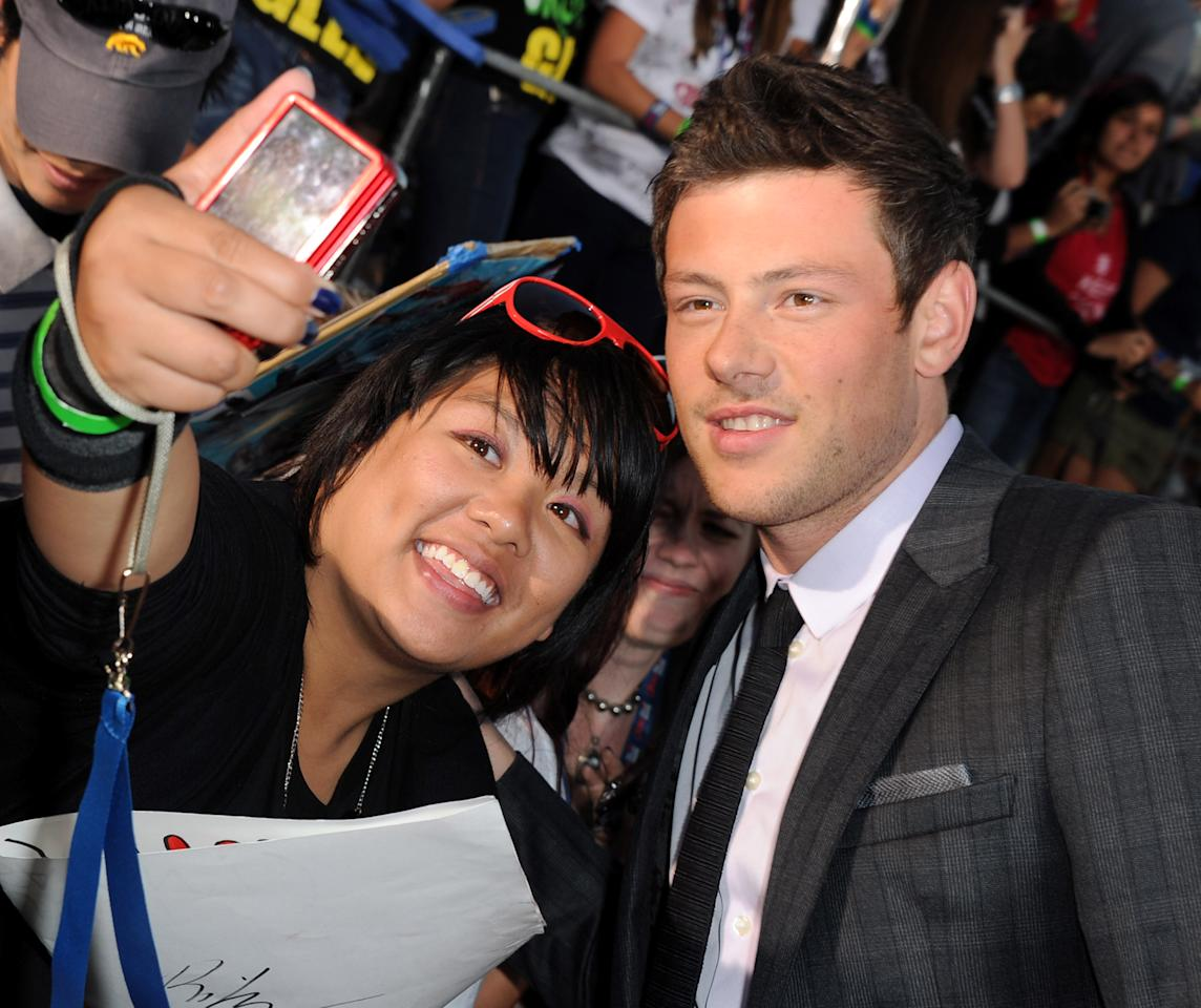 """WESTWOOD, CA - AUGUST 06:  Actor Cory Monteith arrives at the premiere of Twentieth Century Fox's """"Glee The 3D Concert Movie"""" held at the Regency Village Theater on August 6, 2011 in Westwood, California.  (Photo by Kevin Winter/Getty Images)"""