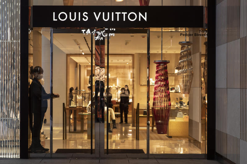 Louis Vuitton brand store and logo. Photo by May James/SOPA Images/LightRocket via Getty Images