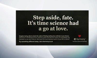 Online dating service eHarmony accused of 'fake news' after advert ban