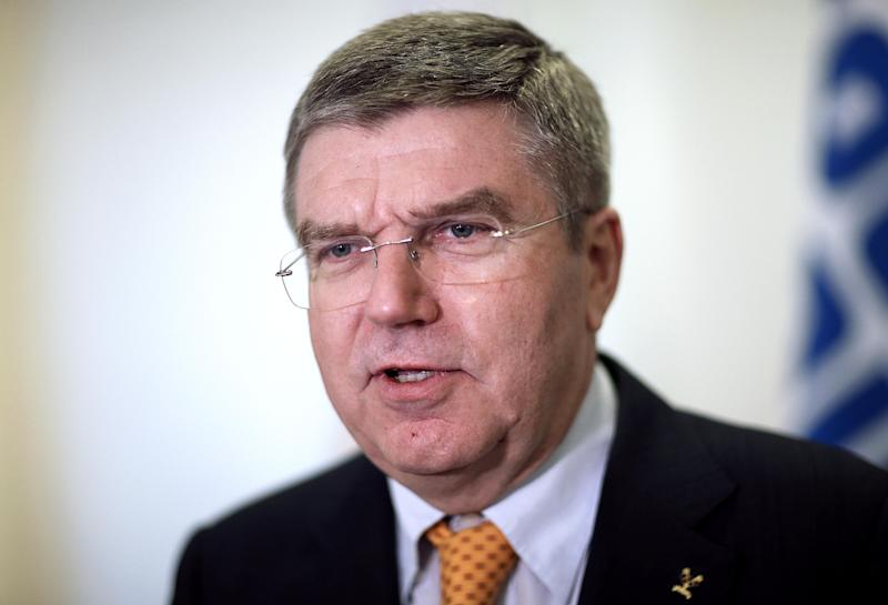 International Olympic Committee President Thomas Bach arrives for an executive board meeting at the 2014 Winter Olympics, Sunday, Feb. 2, 2014, in Sochi, Russia. (AP Photo/David Goldman)