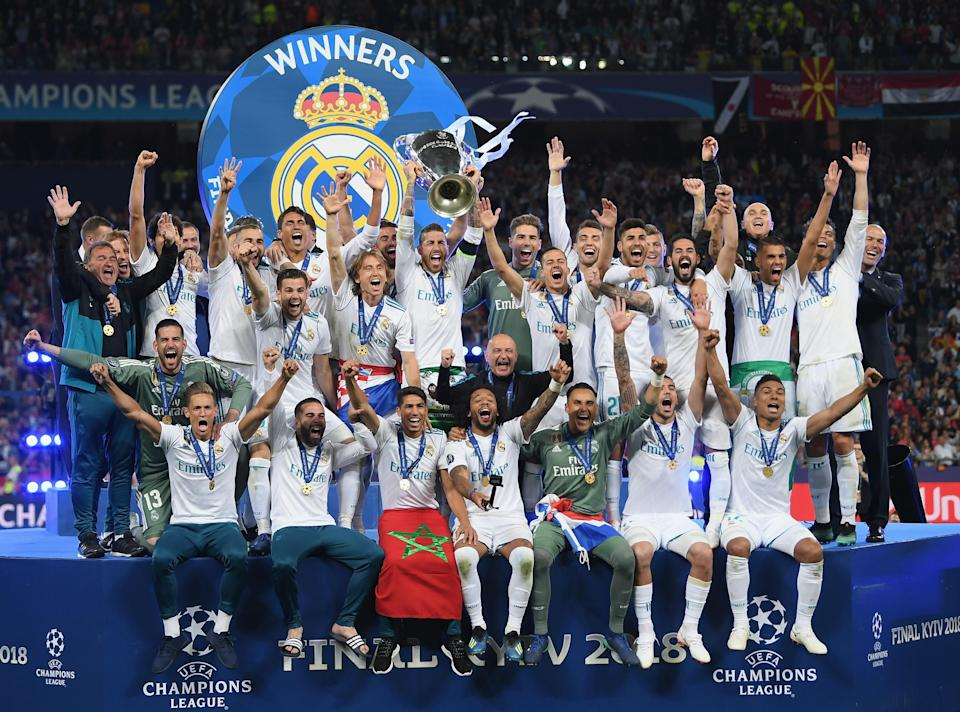 Real Madrid has won four of the last five Champions League titles. But for the first time since last decade, it will chase European club soccer's top prize without Cristiano Ronaldo. (Getty)