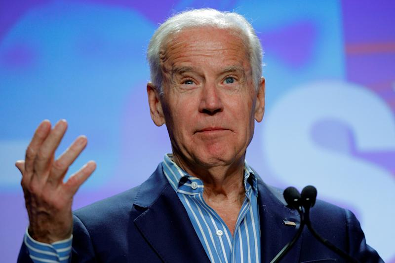 "Former Vice President Joe Biden says he ""never thought"" that former Secretary of State Hillary Clinton was the ""correct candidate"" for president."
