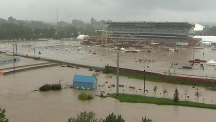 Calgary officials plan to hold the city's annual event, despite floods that washed out the grounds