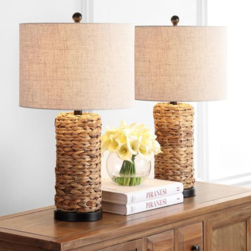This set of two seagrass lamps feels like a day at the beach. (Photo: Home Depot)
