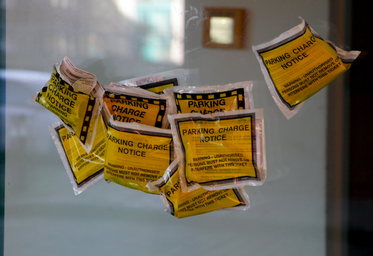 Carly Mackie ripped up over 200 parking tickets issued to her (SWNS)