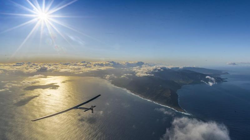 Solar Impulse takeoff from Hawaii, United States of America