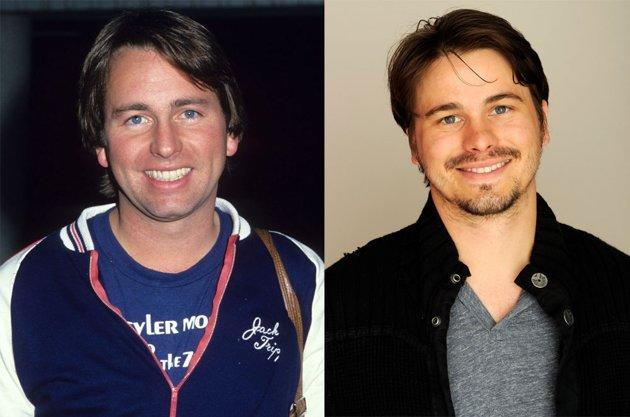 """<h2><b>Jason Ritter</b><br> <b>Famous Dad:</b> John Ritter<br><br> Late actor John Ritter won an Emmy in 1984 for his performance in the  classic television series """"Three's Company."""" His son Jason Ritter, 32,  has appeared in several popular shows and this year received an Emmy  nomination for his role on NBC's """"Parenthood.""""</h2>"""