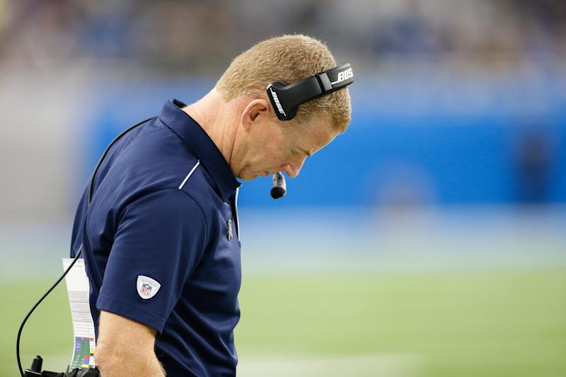 DETROIT, MI - NOVEMBER 17: Dallas Cowboys head coach Jason Garrett looks on during a regular season game between the Dallas Cowboys and the Detroit Lions on November 17, 2019 at Ford Field in Detroit, Michigan. (Photo by Scott W. Grau/Icon Sportswire via Getty Images)