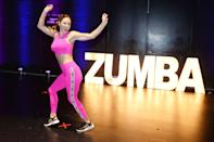<p>Katharine McPhee breaks it down at Zumba's #StepIntoHappy event to celebrate World Health Day on Oct. 7 in N.Y.C. </p>