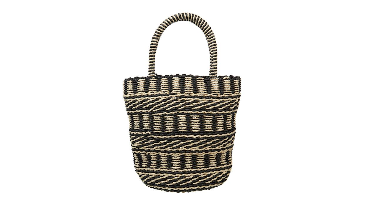 """<p>Straw bags will continue to reign supreme this year. Snap up this bargain from ASOS now. <a rel=""""nofollow"""" href=""""http://asos.com""""><em>Buy here.</em></a> </p>"""