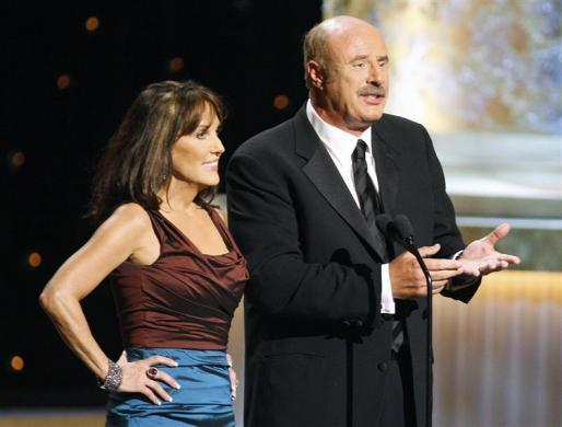 Dr. Phil McGraw, $64 million: Dr. Phil McGraw (R) and wife Robin present during the 36th Annual Daytime Emmy Awards at the Orpheum Theatre in Los Angeles, August 30, 2009.