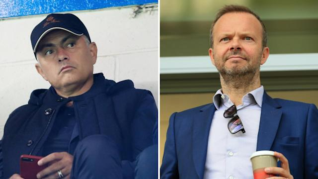 Jose Mourinho and Edward Woodward have been sending one another friendly text messages.
