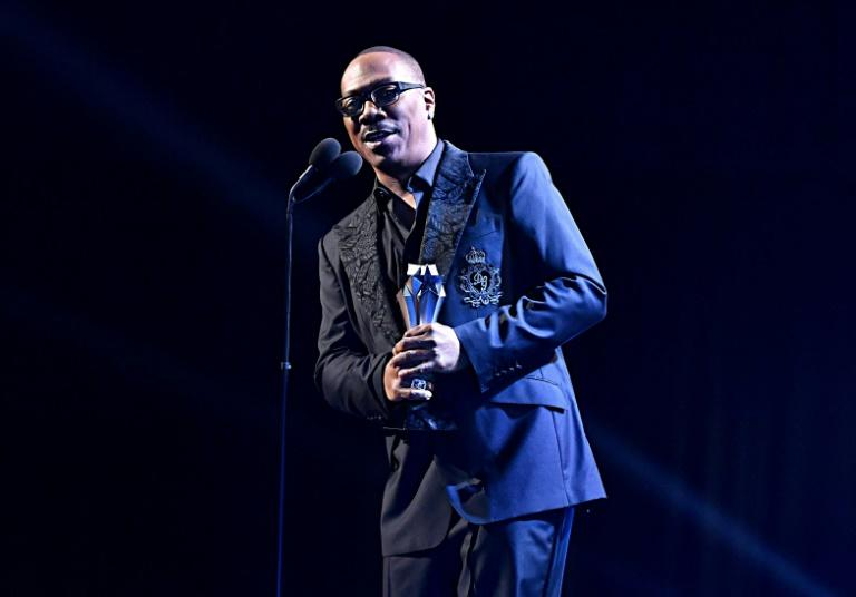Eddie Murphy accepts the Lifetime Achievement Award onstage at the 25th Annual Critics' Choice Awards in Santa Monica, California