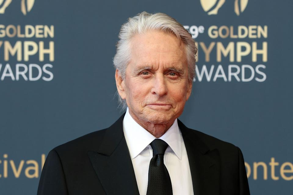 Michael Douglas poses during a photocall during the 59th Monte-Carlo Television Festival on June 18, 2019 in Monaco. (Photo by Valery HACHE / AFP via Getty Images)