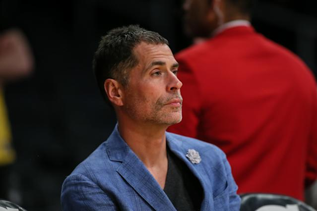 Lakers GM Rob Pelinka could not make a roster upgrade at the trade deadline. (Jevone Moore/Getty Images)