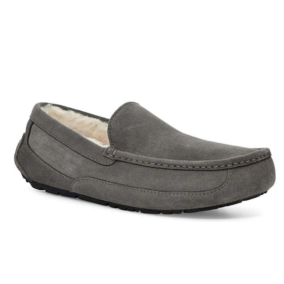 """<p><strong>UGG</strong></p><p>nordstrom.com</p><p><strong>$109.95</strong></p><p><a href=""""https://go.redirectingat.com?id=74968X1596630&url=https%3A%2F%2Fwww.nordstrom.com%2Fs%2Fugg-ascot-slipper-men%2F4922169&sref=https%3A%2F%2Fwww.bestproducts.com%2Flifestyle%2Fg1453%2Ffathers-day-gifts-ideas%2F"""" rel=""""nofollow noopener"""" target=""""_blank"""" data-ylk=""""slk:Shop Now"""" class=""""link rapid-noclick-resp"""">Shop Now</a></p><p>Help your dad settle into lazy Sunday mornings by gifting him this pair of UGG slippers. Perfect to match with pajamas, sweats, or a robe, your dad will feel royally cozy. They're made with water-resistant suede and have rubber soles so he won't need to worry about going out to grab the newspaper on a rainy day.</p>"""
