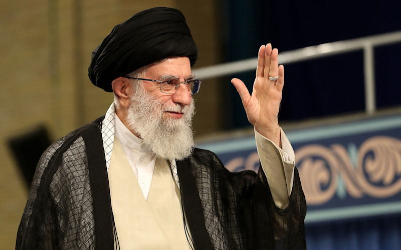Ayatollah Ali Khamenei's comments were given on national television as concern grew about a missing UAE tanker - AFP