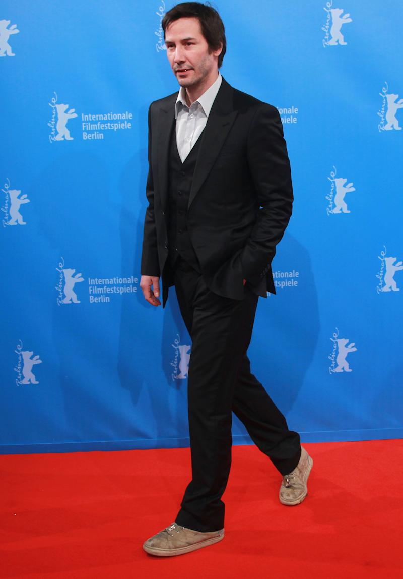 Keanu Reeves attends the 'Side By Side' Premiere during day seven of the 62nd Berlin International Film Festival at the Haus der Berliner Festspiele on February 15, 2012 in Berlin, Germany.