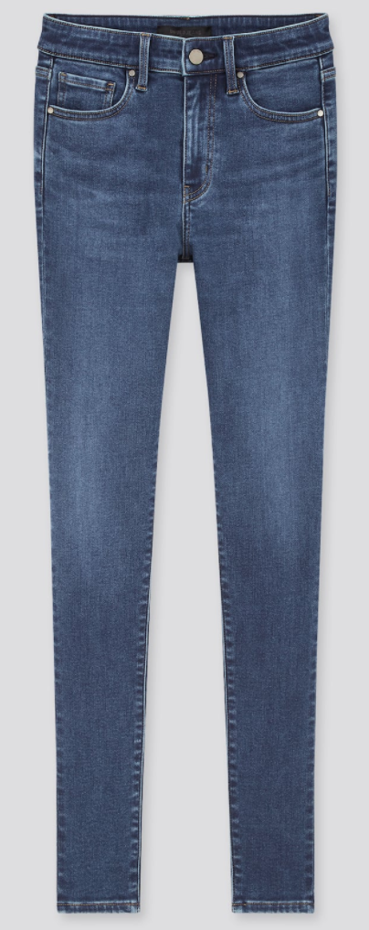 Uniqlo Women's HEATTECH Extra Stretch High Rise Jeans in Blue