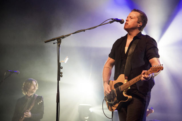 <p>Jason Isbell and the 400 Unit are out front with <i>The Nashville Sound</i>. Isbell won here two years ago with <i>Something More Than Free</i>. If he wins again, he'll join Levon Helm as the only two-time winners in the category's history. (Photo: Erika Goldring/Getty Images) </p>