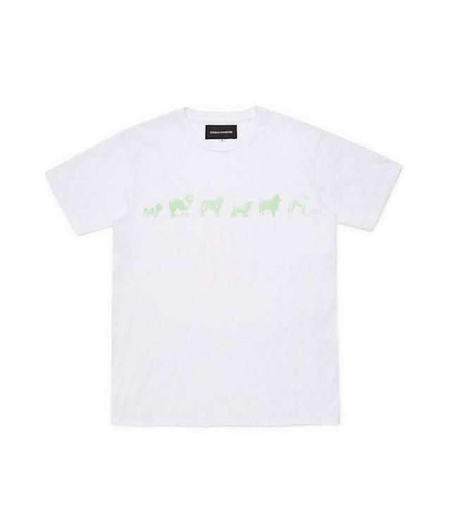"<p>Best Friend Tee, $52, <a href=""https://shop.doverstreetmarket.com/us/year-of-the-dog/bianca-chandon-year-of-the-dog-dog-line-t-shirt-white"" rel=""nofollow noopener"" target=""_blank"" data-ylk=""slk:doverstreetmarket.com"" class=""link rapid-noclick-resp"">doverstreetmarket.com</a> </p>"