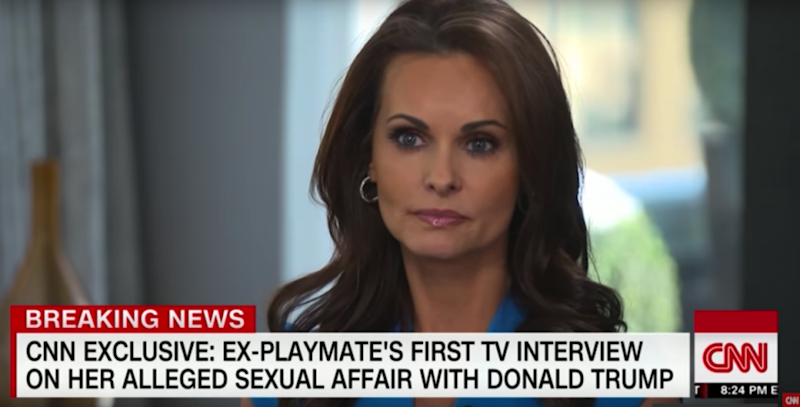 In another interview with Anderson Cooper over the weekend, former Playboy model Karen McDougal claimed he also told her she was like his daughter, Ivanka. Photo: CNN
