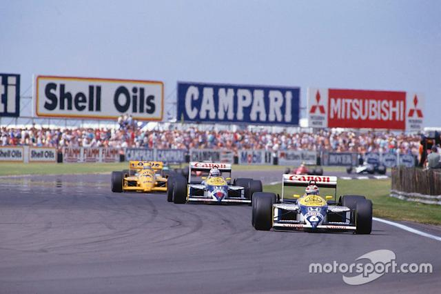 "3: Nigel Mansell y Nelson Piquet (Williams) <span class=""copyright"">LAT Images</span>"