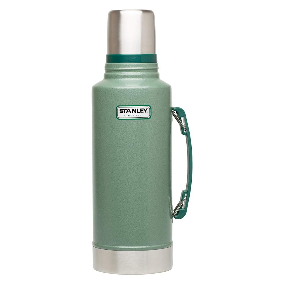 """<br><br><strong>Stanley</strong> Classic Vacuum Insulated Wide Mouth Bottle, $, available at <a href=""""https://amzn.to/3407hYb"""" rel=""""nofollow noopener"""" target=""""_blank"""" data-ylk=""""slk:Amazon"""" class=""""link rapid-noclick-resp"""">Amazon</a>"""