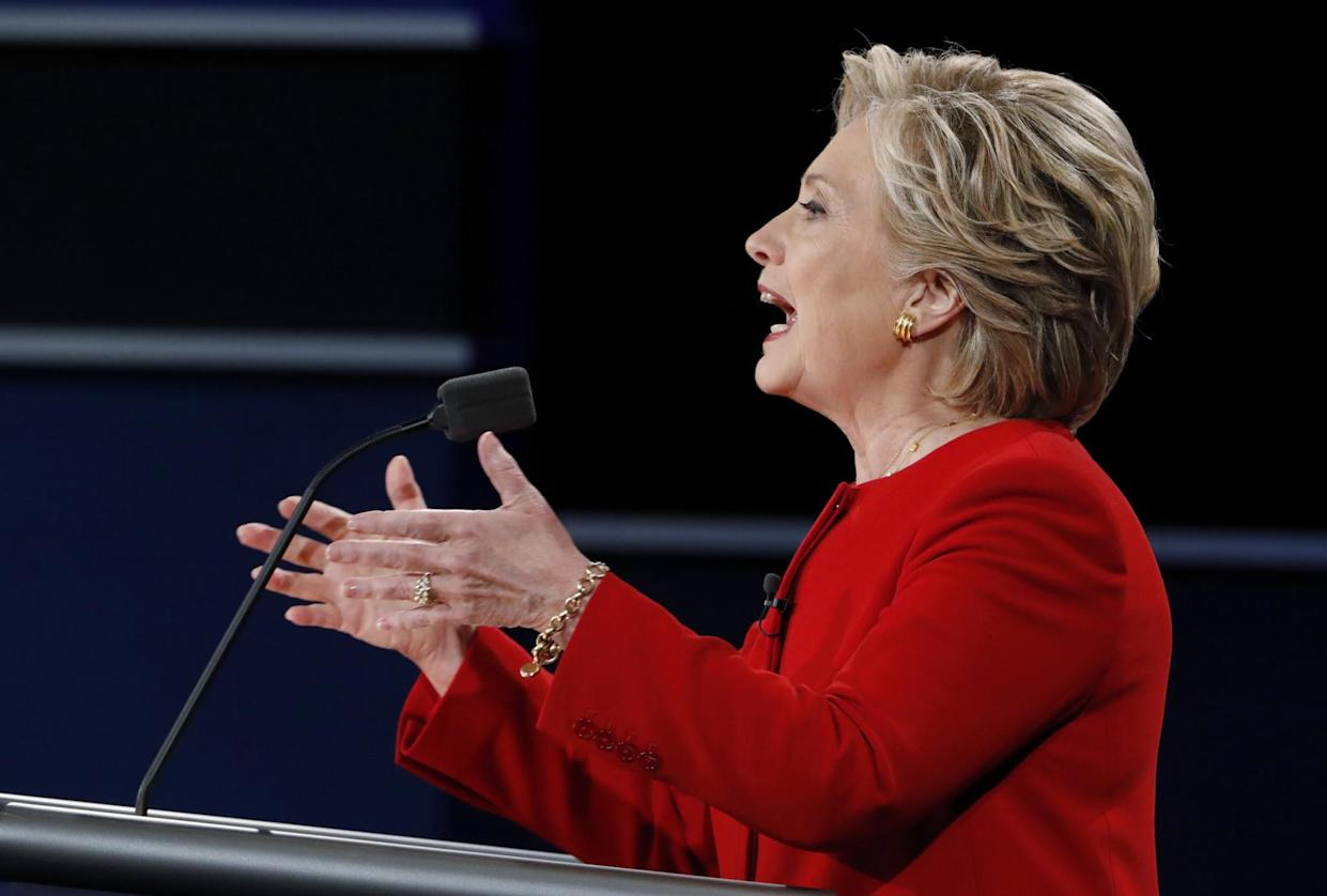 Hillary Clinton during the debate. (Photo: Lucas Jackson/Reuters)