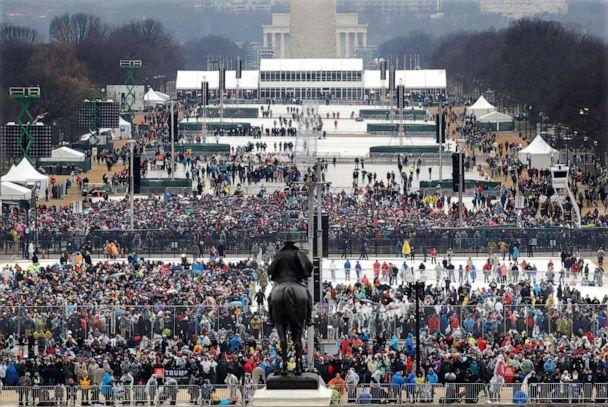 PHOTO: Crowds gather at National Mall in Washington before the swearing in of Donald Trump as the 45th president of the Untied States during the 58th Presidential Inauguration on the U.S. Capitol, Jan. 20, 2017. (Patrick Semansky/AP, FILE)